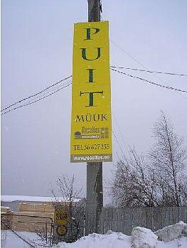 Reklaamtahvel puidufirmale