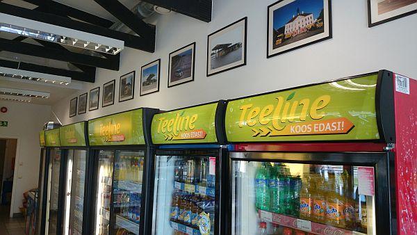 Joogiautomaatidele reklaamid Olerex Teeline